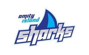logo design company near me - Amity Island Sharks by Ocasio Consulting